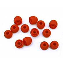 Xcessor High Quality Replacement Silicone Earbuds 7 Pairs (Set of 14 Pieces). Compatible With Most In Ear Headphone Brands. Size: SMALL. Red