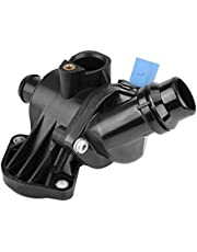 KIMISS Engine Coolant Thermostat & Housing Assembly 06B121111K for Audi A4 Quattro 2002-2006 06B121111K