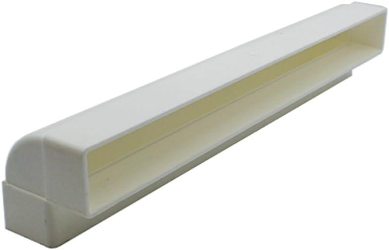Kair 90 Degree Horizontal Elbow Bend 204mm x 60mm 8 x 2 inch Rectangular Plastic Ducting Adaptor