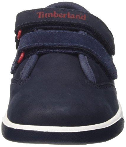 Timberland Groveton Plain Toe Oxford, Zapatillas de Gimnasia Unisex Niños Azul (Navy Naturebuck)