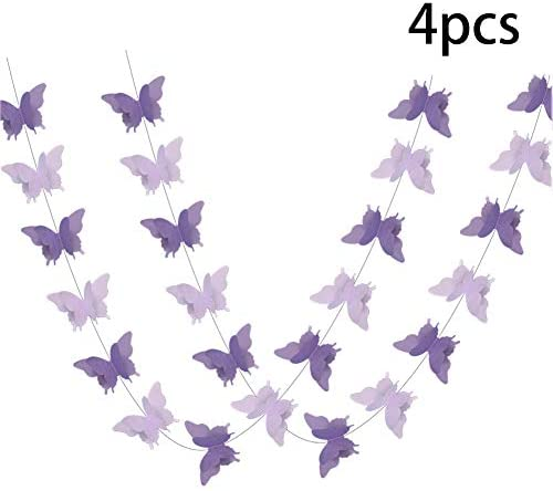 ADLKGG Butterfly Hanging Garland Decorations
