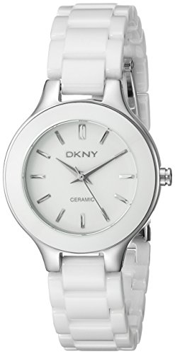 DKNY Ceramic Bracelet Mother-of-pearl Dial Women's watch (Dkny Ladies White Ceramic)