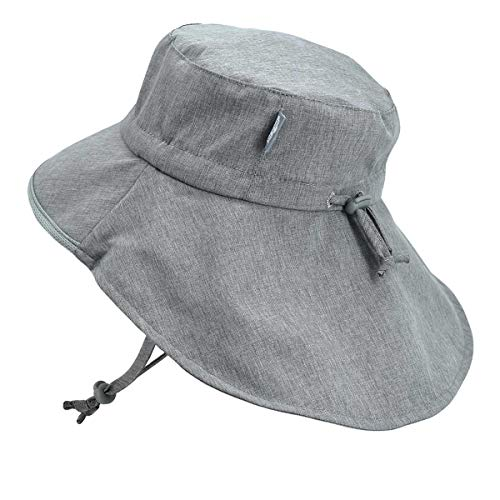 Kids Hiking Adventure Sun-Hats 50+ UV Protection Light-Weight (XL: 5-12Y, Gray) (Best Sun Hat For Hiking)