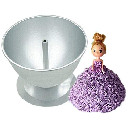 (ZHYF Birthday Cake Mould Skirt Mould Baking Tools Princess Skirt Cake Mould- 8-inch Princess Barbie)