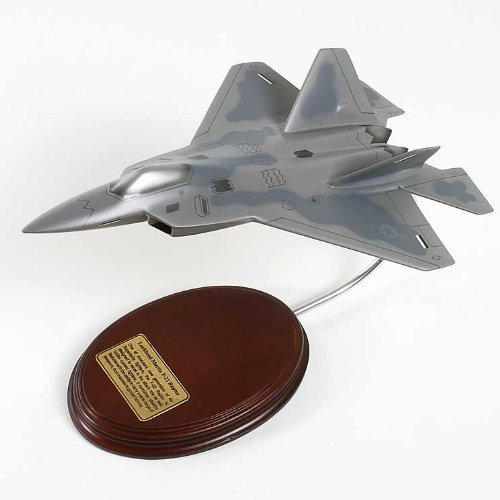 (Lockheed Martin F-22 Raptor Handcrafted Quality Desktop Aircraft Model Display / USAF Stealth Air Superiority Fighter Aircraft / Unique and Perfect Collectible Gift Idea / Aviation Historical Replica Gift Toy)