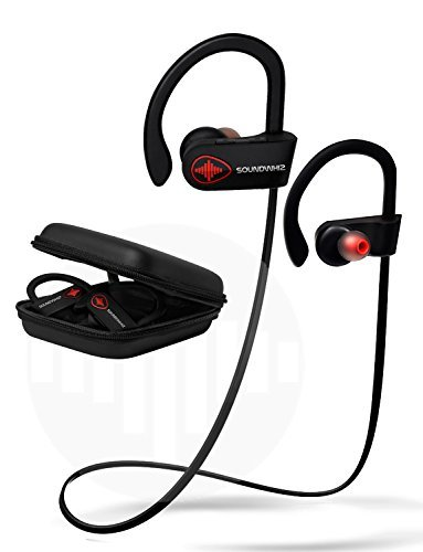 Wireless Bluetooth Running Headphones – SoundWhiz Noise Cancelling Waterproof Workout Earbuds – w Mic & Siri. Best Sport Headphones 9 Hours Play