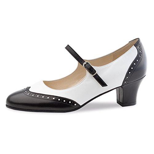 Werner Kern–Zapatos de baile para mujer Emma 4,5 negro/blanco