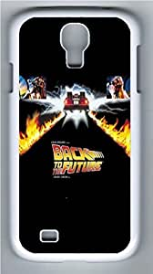 Creative Back To The Future Poster PC Case Cover for Samsung Galaxy S4 I9500 White