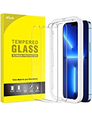 JETech Schermbeschermer Compatibel met iPhone 13 Pro Max 6,7-Inch, Gehard Glas Screen Protector met Eenvoudig te Installeren Gereedschap, 2-Stuks