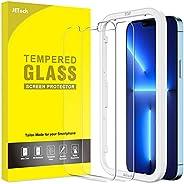 JETech Protector de Pantalla Compatible con iPhone 13 Pro Max 6,7 Pulgadas, Mica de Cristal Vidrio Templado, c