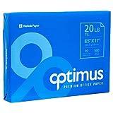 New 378536 Optimus White Copy Paper 8.5'' X 11'' (10-Pack) Paper Cheap Wholesale Discount Bulk Stationery Paper Printer Paper