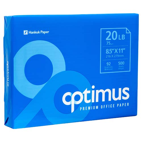 New 378536 Optimus White Copy Paper 8.5'' X 11'' (10-Pack) Paper Cheap Wholesale Discount Bulk Stationery Paper Printer Paper