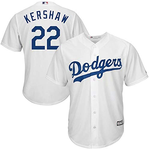 ('47 Men's Baseball Jersey Los Angeles Dodgers #22 Kershaw Shirt Team Sportswear Uniform Cool Base T-Shirt for Men Women Kids Youth)
