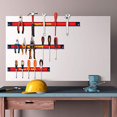 - Magnetic Tool Organizer Storage Rack Holder Bar Knife Wrench Magnet Power Tool Bar 3 PCS 8