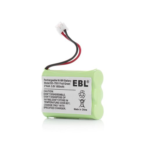 EBL Rechargeable Cordless Phone Battery 3.6V NiMH for Mot...