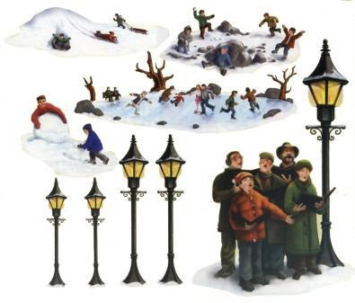 Beistle Company - Lampposts, Carolers & Winter Fun Props Add-Ons - Standard