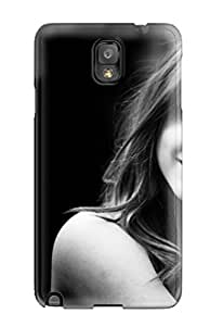 Protection Case For Galaxy Note 3 / Case Cover For Galaxy(model Posing Girl Black And White Photo Arm Hand People Women)