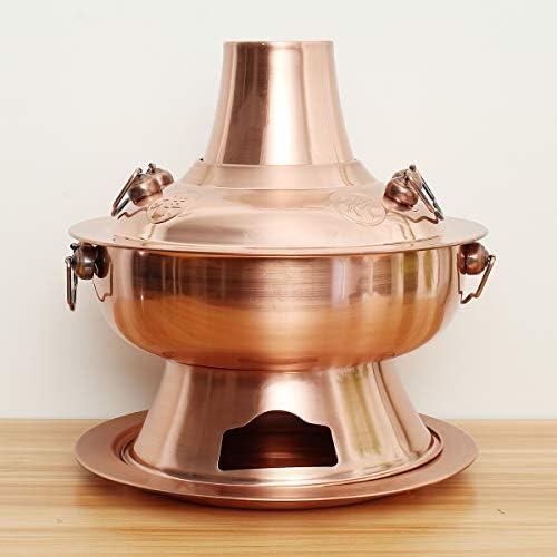 Wchaoen Vieux Beijing Chinois Hot Pot Grand Cuivre En Acier Inoxydable Traditionnel Charbon De Bois Cuisine Outils De Cuisine Accessoires outils
