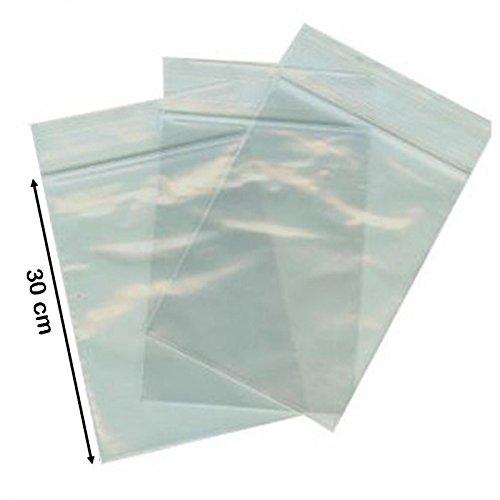 100 buste trasparenti con chiusura a pressione 7x10 bustine zip