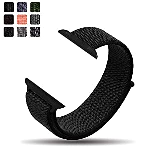 iMoway Sport Loop Band Compatible for Apple Watch 38mm 42mm, Nylon Replacement Wristbands Compatible for iWatch Series 1/2/3, Nike+,Sport,Edition