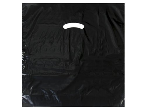 Black Super Gloss Bags 20x20x5'' Recycled Plastic Bags 1.50 mil (Unit Pack - 500)