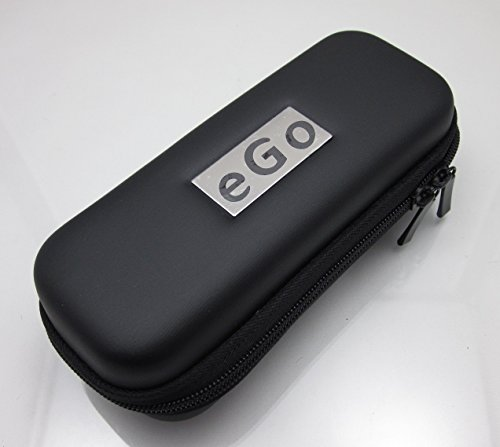(Black Universal Ego Zippered Carrying Pouch Case with Mesh Pockets)