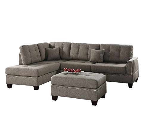 Poundex PDEX- Sofas, Coffee (Sectional Sofa With Bed $500)