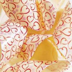 Chocolate Transfer Sheet: Hearts.