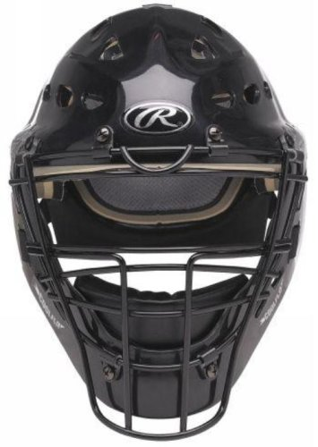 Coolflo Hockey Style Catchers Helmet (Rawlings Coolflo Youth Hockey Style Catchers Helmet (Black))