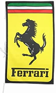 Ferrari Prancing Horse Yellow Flag Banner 3 X 5 ft
