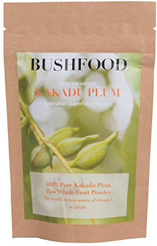 Kakadu Plum Vitamin C Superfood Powder (40 gm), 100% Freeze Dried Without Kernel, Rich In Antioxidants, Strengthens Immune System, 1.4 OZ