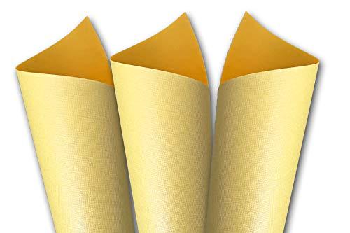 Premium Pearlized Metallic Textured Buttercup Yellow 8.5