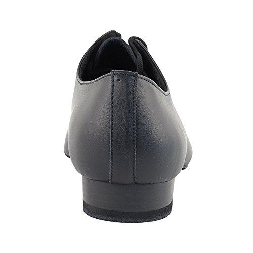 Chaussures De Pigeon Dor 50 Nuances Dhommes Standard 1 Talon Robe Robe De Danse Collection (large Largeur Disponible): Confort Salle De Bal, Standard, Lisse, Latin, Salsa, Theather Art Par Party Party S304 Cuir Noir