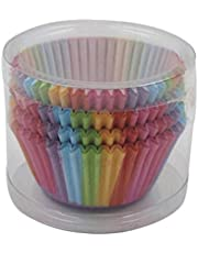 100Pcs Rainbow Cupcake Paper Liners Muffin Cases Cup Cake Baking Egg Tarts Tray