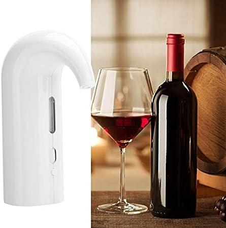 GaoF Aireador de Vino eléctrico, dispensador de Vino de Barra de fácil Limpieza, vertedor de aireación para Mejorar el Sabor, Accesorio de Sommelier Que Mejora la pureza (Blanco)