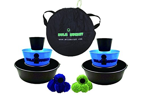 BULZiBUCKET Blue - Next Generation Cornhole - Indoor/Outdoor/Pool Game !!!