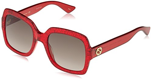 Gucci GG0036S 005 Red 0036S Square Sunglasses Lens Category 3 Size ()