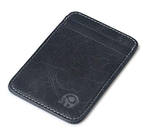 HP95(TM) Slim Credit Card Holder Mini Wallet ID Case Purse Bag Pouch (Black #)