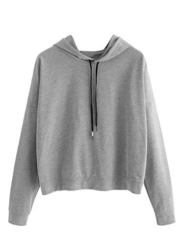 Women Fashion Casual Hooded Long Sleeve Solid Pullover Hoodie - 1