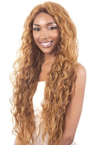 (Motown Tress Synthetic Lace Wig - L Stream-REDWINE)