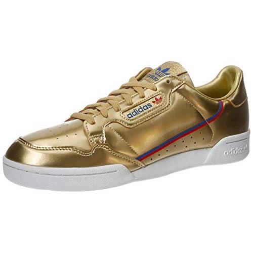chollos oferta descuentos barato adidas Continental 80 Zapatillas de Gimnasio para Hombre Gold Metallic Gold Metallic Crystal White 42 EU