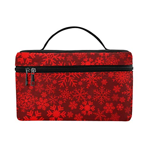 (Red Snowflake Pattern Vector Mobile Wallpaper Pattern Lunch Box Tote Bag Lunch Holder Insulated Lunch Cooler Bag For Women/men/picnic/boating/beach/fishing/school/work)