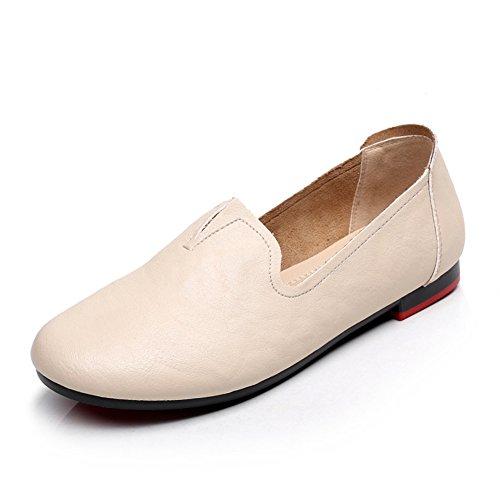 zapatos de moda planas/zapatos casuales de suela blanda redondo resorte antideslizantes A