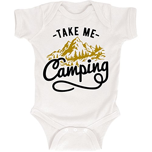 Take Me Camping Mountains Outdoors Forrest Nature Script Infant Baby Bodysuit