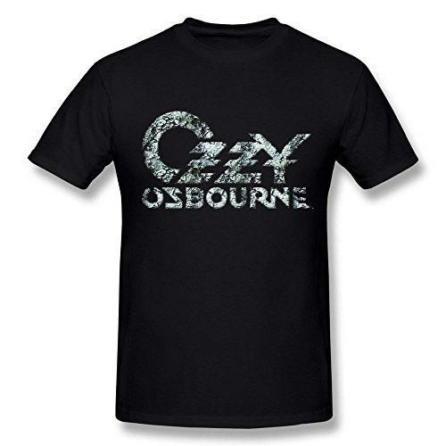 Next Style Men's Ozzy Osbourne Album Song Logo Portrait Poster Black T-Shirt ()