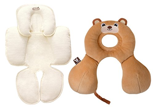 BenBat Travel Friends Head & Neck Support with Snuzzler Body Support, 0-12 Months, Bear