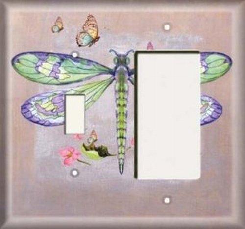 Rocker Combo Single (Switch / Rocker Plate - Green Dragonfly)
