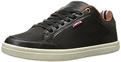 Levis Men's Aart UL Perf. Fashion Sneaker, Black/Tan, 9 M US