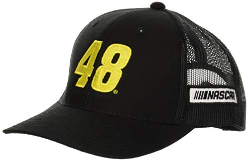 NASCAR Hendrick Motorsports Zone Trucker Cap, Black/Black, Adjustable
