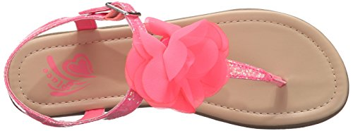 The Children's Place Girls' Big Flower Zahara Ballet Flat, Pink, 12 M US Little Kid